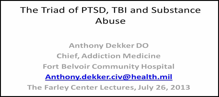 PTSD, TBI and Addiction Substance Abuse Video