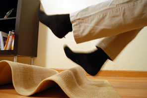Slipping on rug - fall prevention