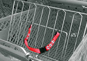 child shopping cart belt