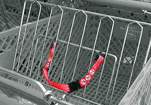 child shopping cart belt
