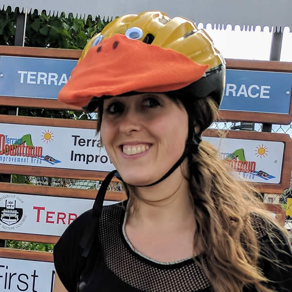 Happy Helmet Contest 2018 Adult Winner - Penny T, Terrace BC